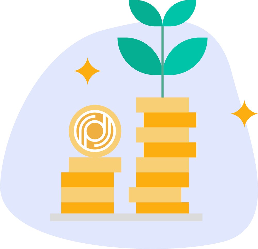 Payd Plant and Coins Icon